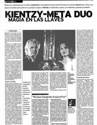 Diaro de Sevilla Musica Experimental