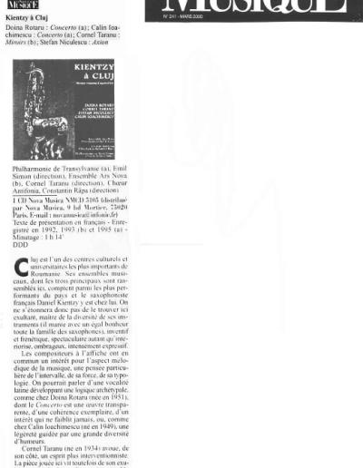 Le Monde de La Musique - Cluj