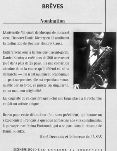 Les Cahiers du Saxophone