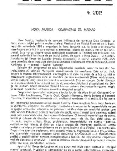 Muzica 1992
