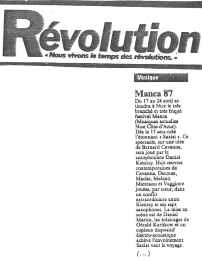 Révolution - MANCA